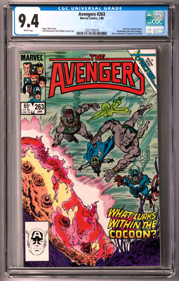The Avengers #263 CGC 9.4 (Jan 1986, Marvel) Sub-Mariner, Return of Jean Grey
