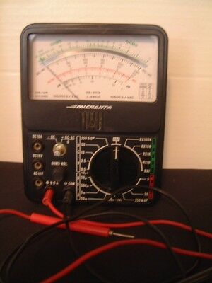 Vintage Micronta #22-207 Volts Amps Ohm Continuity Multi-Meter Works
