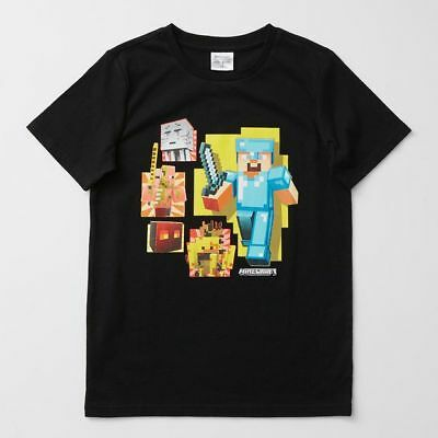 NEW Minecraft Print T-Shirt Kids