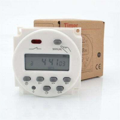 Digital Weekly Programmable Power Timer Time Relay Switch CN101A 12V/110V/220V