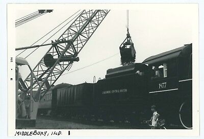 Lake Shore Railroad Station Depot Train MIDDLEBURY IN Vtg 1980s Indiana Photo