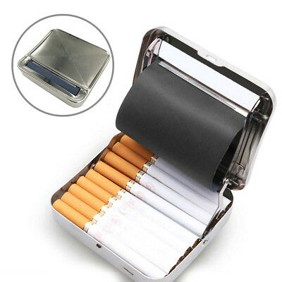 Cigarette Tobacco Automatic Roller Rolling Machine Box 70mm Metal Case