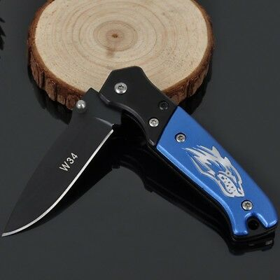 Outdoor Camping Folding Stainless Steel Knife Hunting Survival Blade Tool 58HRC