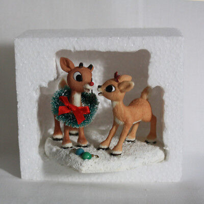 RUDOLPH RED-NOSED REINDEER AND CLARICE Enesco Touching Noses Figure Misfit Toys