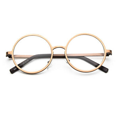 7e479d78f026 Vintage Round 50mm Metal Eyeglass Frames Full Rim Clear Plain Retro Glasses