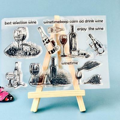 Drink Silicone Rubber Clear Stamp Seal Scrapbooking Photo Album Card Decor DIY