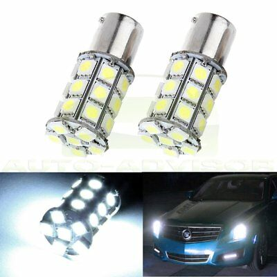6000K Turn signal 12V Xenon White 27SMD LED 1156 BA15S 5050 Light Bright Bulb