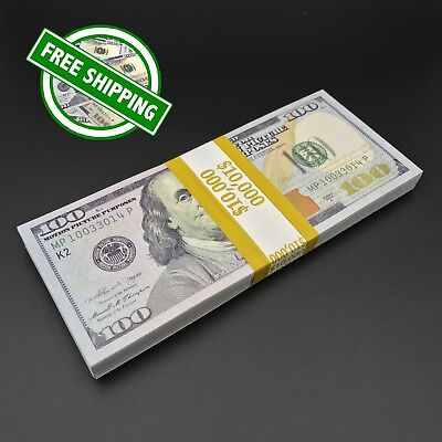 THE BEST PROP MONEY - $10,000 $100 Play Stage Fun Poker Copy Fake Prop Money