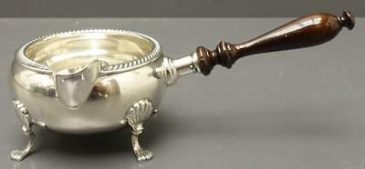 Fisher Sterling Silver footed Gravy Sauce Ladle Pipkin warmer Wood Handle 105g
