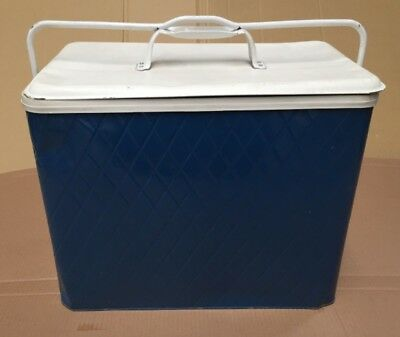 Vintage Blue Esky Old Metal Cooler Ice Box Ford Holden VW Retro Hot Rod Rat 60's