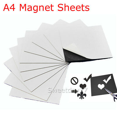10PCS A4 Magnetic Magnet Sheets 1mm Thickness Crafts Rubber Material AU