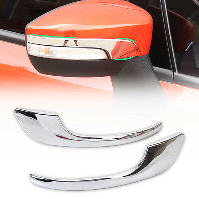 Chrome Side Rearview Mirror Molding Cover Trim For Ford Escape Kuga 2013 2014