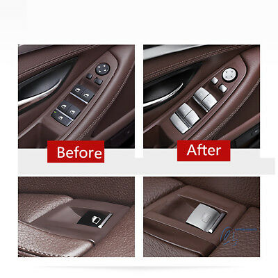ABS chrome inner Window lift switch sequin cover trim For Hyundai Elantra 17-18