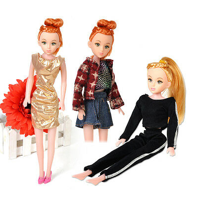5pcs Handmade Outfit Party Dress Gown Clothes For Barbie Doll Daily Wear Random