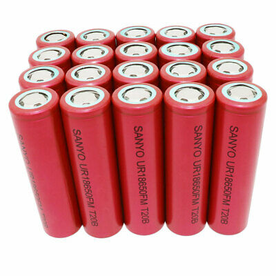 18650 50A 3000mAh High Drain Battery 3.7V Li-ion Rechargeable Flat Top for Vape