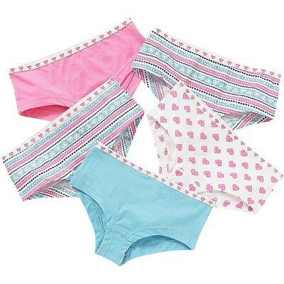 5 Pairs Girls Hipster Shorts Cotton Briefs Pants Knickers Childrens 5-6 Years