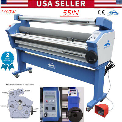 "USA Upgraded 110V 55"" Full-auto Low Temp. Wide Format Cold Laminator with Stand"