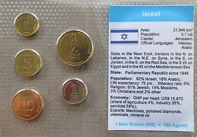 Israel....5 Uncirculated Coins......in Plastic Cover