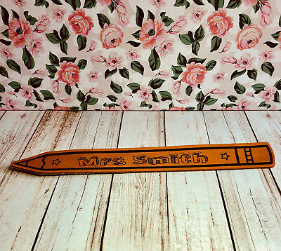 Personalised Leather Teacher Engraved Pencil Genuine Bookmark Teacher Gift