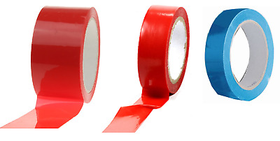 Tickitape Self Adhesive Vinyl Low Noise Packing Tape 66m Blue Red