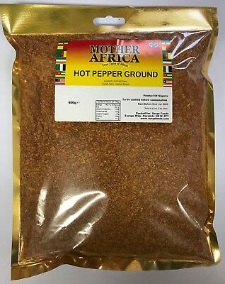 Mother Africa Hot Pepper Ground 400g (Single Pack)