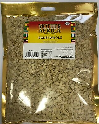 Mother Africa Egusi Whole 400g (Single Pack)