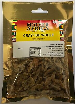 Mother Africa Dried Whole Crayfish 40g (Single Pack)