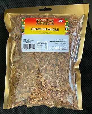 Mother Africa Dried Whole Crayfish 200g (Single Pack)