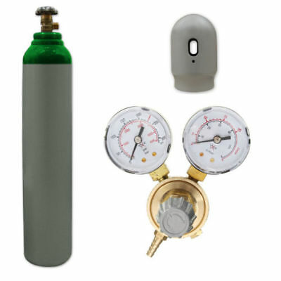 Argon Gas Bottle Cylinder New! Full 1.8m3 8L 200 Bar + Mini regulator