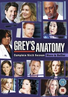 Grey's Anatomy Complete 6th Season Dvd Ellen Pompeo Brand New & Factory Sealed