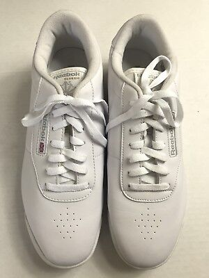 aca4aafdfcf Reebok Classic White Princess Athletic Sneakers Shoes Lace Up 039501 Women s  11W