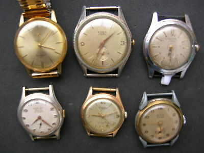 6x old swiss wrist watches CORNAVIN GENEVEZ EDEN CORTEBERT LANCO GISA
