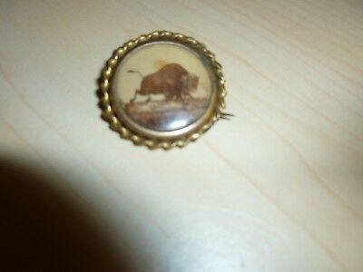 1901 World's Fair  Pan Am Exposition Running Buffalo Pin