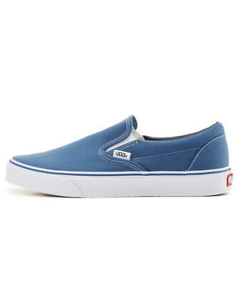 Vans Authentic Classic Slip On VN000EYENVY Navy Blue Men Canvas Sneakers Casual
