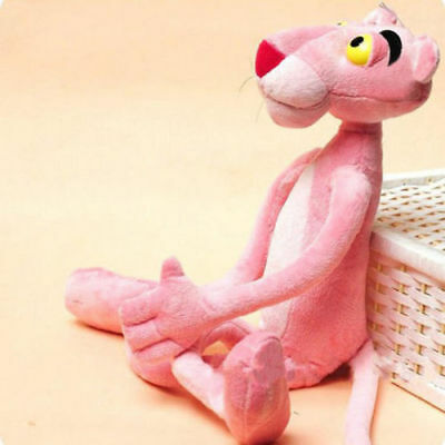 Lovely Pink Panther Plush Toy Stuffed Animal Doll 40 cm Tall Cute Children Gift