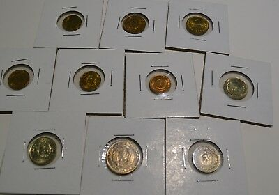 Bulgaria 10 Coin Lot Includes Choice BU Coins Communist Issue Stotinki  - Ghn1