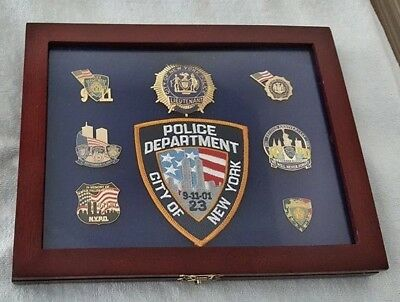 New York City Police Lieutenant World Trade Center Tribute Plaque ~ Outstanding