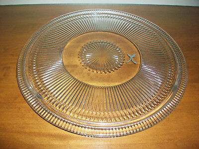 """Vintage Everedy Glass Replacement Cake Plate for an 11"""" dome. Clear glass."""