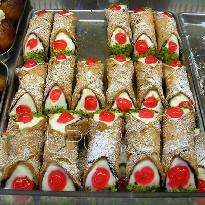 12 Pieces Cannoli Forms Dessert Pastry Cream Molds Stainless Steel DIY Baki Y1E6