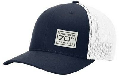 Official Land Rover Merchandise 70th Jubilee Classic Trucker Style Cap Navy