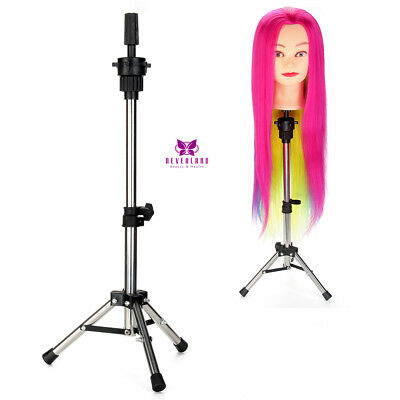 Heavy Duty Canvas Block Head Tripod Mannequin Wig Stand Practice Hairdressing
