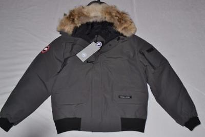 10b3c1d7a CANADA GOOSE MEN'S Chilliwack Bomber Jacket Graphite Grey Xs Xsmall  Authentic