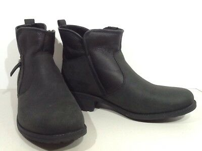 df3b5add2aa UGG AUSTRALIA WOMENS 'Penelope' Black Leather Sz 11 Ankle Boots ...