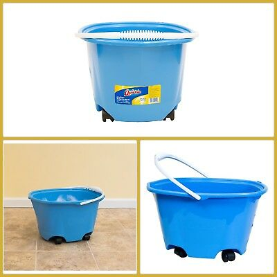 Heavy-Duty Bucket with Wheels HomePro Plastic Fit Most Sizes of Sponge 5-Gal.