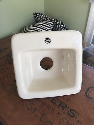 vintage cast iron sink!  Hard to find small size - perfect, no chips, stains!