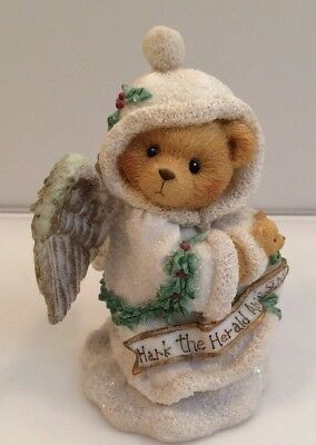 "Cherished Teddies ""Stormi"" Hark The Herald Angels Sing Christmas decor Bear"