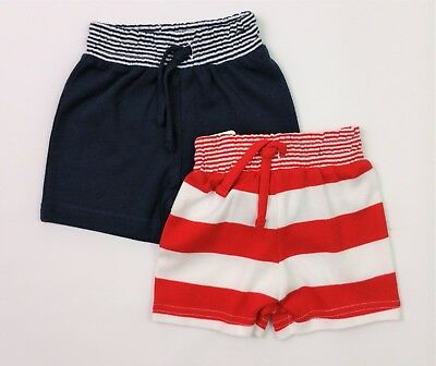 Baby Boys Mothercare 2 Pack Jersey Cotton Shorts 0-3 Mths BNWT Combine Postage