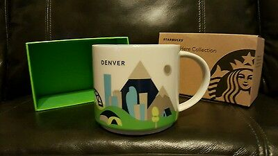 NEW Starbucks Denver CO City State You Are Here Collectible Mug 14 oz NWT In Box