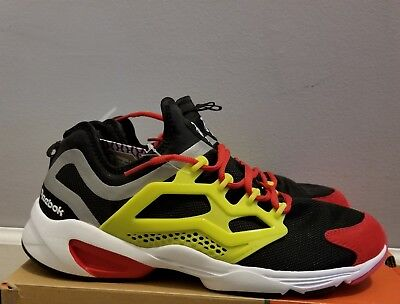new styles 710fd 95b47 Men s Shoes Size 10 Reebok Fury Adapt Sneakers Black Hypergreen Red  Rush White