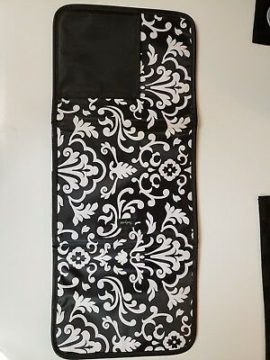 Thirty-One Fold Up Organizer Tablet Holder Cover Planner Black Parisian Pop